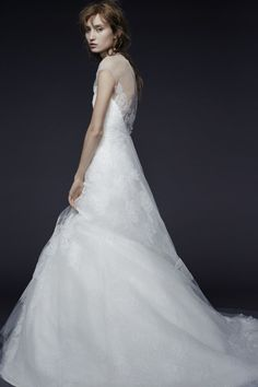 Invisible neckline Vera Wang gown: http://www.stylemepretty.com/2014/10/16/favorites-from-bridal-week-fall-2015/
