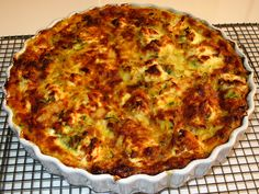 Zucchini and Goat Cheese Crustless Quiche Recipe : Food Network Kitchens : Food Network - FoodNetwork.com