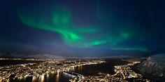 The Northern Lights over Tromsø, Norway