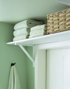 Bathroom shelf above the door. For when your bathroom is tiny.
