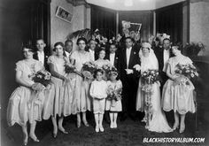 THE WEDDING PARTY, 1928 | An African American wedding party, group portrait. Addison Scurlock, photographer