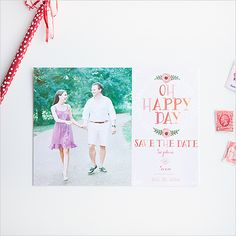 oh happy day free photo save the dates. come and get yours. (:
