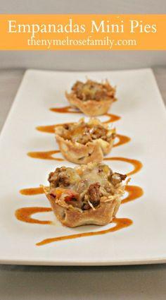 Empanadas Mini Pies  www.thenymelrosefamily.com #superbowl #appetizer