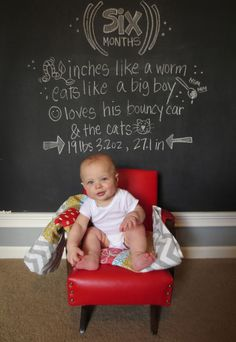 6 creative ways to document baby's first year in photos. Amazing!