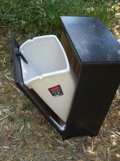 Trash bin/Dog Food Storage Bin? Someday...  Trash bin stained ebony   SALE     was 10500 by davwoodshed, $90.00