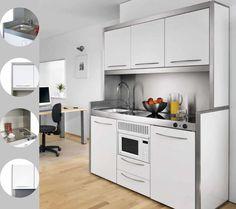 Les cuisines astucieuses on pinterest kitchenettes - Toute petite cuisine 2m2 ...