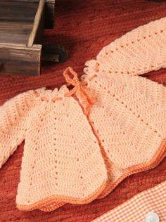 Saco naranja para bebé crochet Descarga ya el patron en www.eviadigital.com