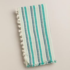 One of my favorite discoveries at WorldMarket.com: Cool Multicolor Herringbone Napkin, Set of 4