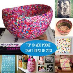 2013 daili, bowl, top 10, 10 mod, podg craft, mod podge crafts, awesom, balloon, craft ideas