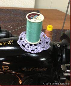 Crochet Spool Doily directions