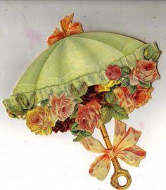 Beautiful Victorian Flower Umbrella