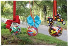 Ribbon And Bows in clear ornaments