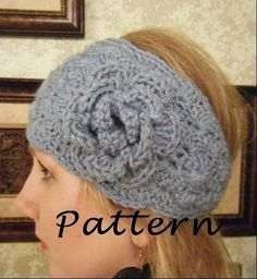 Free Crochet Headwrap Pattern. Made this today... narrower and with a different flower. Turned out well!