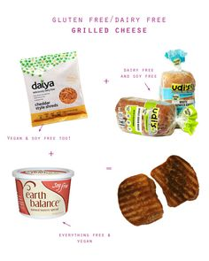 Dairy Free, Gluten Free Grilled Cheese