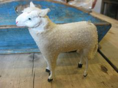 19th C. Putz Wooly German Christmas Sheep