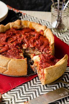 Mozzarella Mac Deep Dish Pizza   Vegan Yack Attack