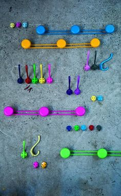 coloured hooks