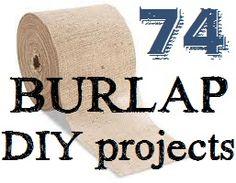 74 diy, 74 burlap, diy crafts with burlap, project inspir, wedding stuff, burlap crafts, burlap projects, diy burlap wreath ideas, diy projects