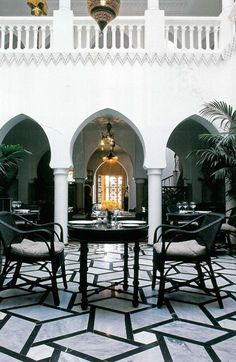 Take a trip to Morocco and chances are you'll find yourself basking in one of these interior courtyards. A way to bring a green space or even a pool area into the house, courtyards practically define Marrakech's traditional palaces called riads.