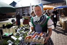 Sorbian women craft ornate Easter eggs languages, news, folk, dresses, boxes, germany, easter eggs, paintings, crafts