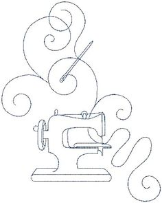 sewing machines, misc sew, cover design, pattern, doodl