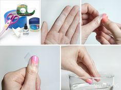 The secret to using tape in nail art