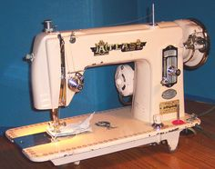 This wabi-sabi Atlas Japanese sewing machine  was saved from certain destruction.  You really cannot buy a new sewing machine with this kind of quality.