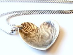 Love this! Finger print necklace
