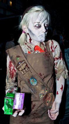 holiday halloween, scout zombi, zombi costum, costume ideas, girl scout, costum idea, halloween costum, zombies, zombi girl