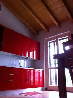 red Italian magic in the kitchen