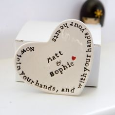 shakespeare love quote personalized wedding ring dish