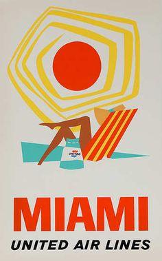 Miami.  United Air Lines.