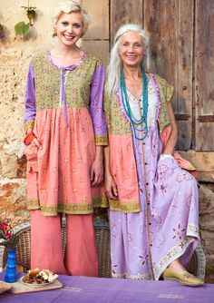 Love these clothes!  She designs for women of all ages, shapes and countries.  Gudrun Sjoden -- gudrunsjoden.com.  Check it out.