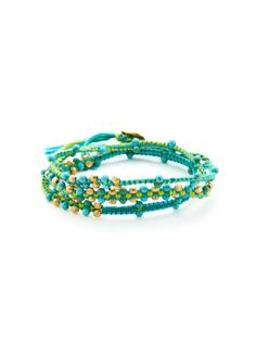 Semi-Precious Stone & Pyrite Wrap Bracelet by Chan Luu on Gilt.com