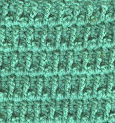 Flag Stitch Dishcloth  ~ free pattern ᛡ