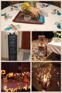 Country Western BBQ Decorations and Centerpieces
