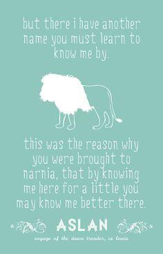 ASLAN Poster. $20.00, via Etsy. I'm thinking...Narnia themed nursery...