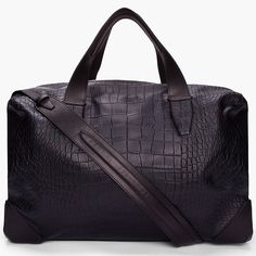 Leather Wallie Duffle Bag by Alexander Wang