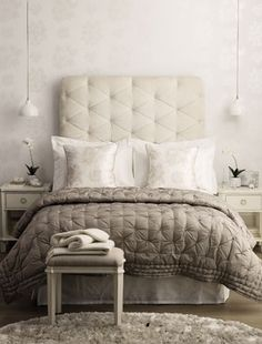decor, hanging lights, idea, beds, small bedrooms, headboards, laura ashley, colors, pendant lights