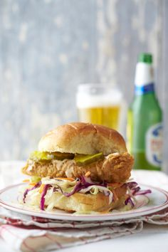 Fried Fish Sandwich with Spicy Mayonnaise The key to this fantastic summer sandwich is to use the freshest fish you can find. Use snapper, as the recipe suggests, or substitute grouper or flounder—...