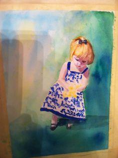 """my watercolor """"Julie"""""""