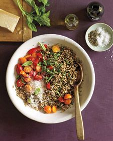 grain and pesto salad