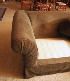Couch Slipcover DIY