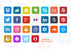 Simple Flat Icons - 365psd