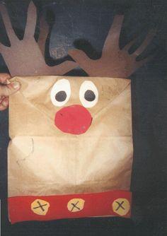 Rudolph gift bag for kids to make