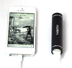 The smallest back up power pack for your phone or device. #phone gadgets #cellphonegadgets