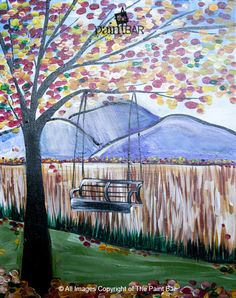 Tree Swing in Fall Painting - Jackie Schon, The Paint Bar