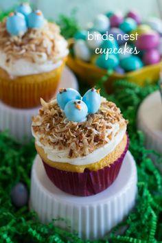 Birds Nest Cupcakes. So precious!