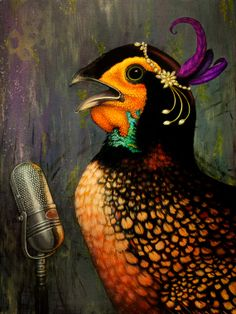 Jazz Cock by Kelley Quigley 2011 Oil on by KelleyQuigleyDesigns, $2400.00