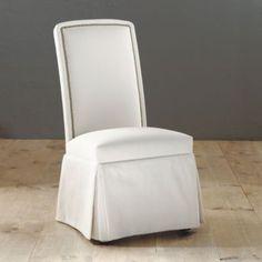 Nailhead Parsons Chair, Brass Nailhead Chair